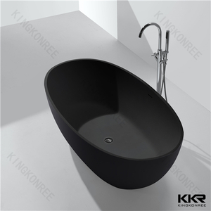 Bathroom black oval bath tub KKR-B003-A Black